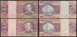 Brasilien - Brazil 100 Cruzados Banknote (1981) Pick 195 Ab F (4) Sig.20 - Banconote