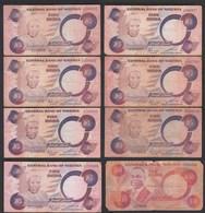 Nigeria 8 Stück Banknoten 7 Stück Pick 24a Stark Gebraucht   (25510 - Banconote