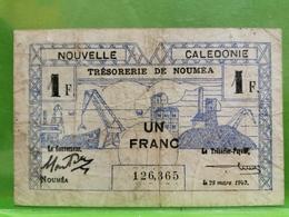 Nouvelle Caledonie, Un Franc 1943 - Nouméa (Nuova Caledonia 1873-1985)