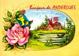 Bonjour De ANDERLUES - Carte Colorée - Anderlues