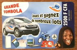 BÉNIN BB COM VOITURE 2.500 FCFA CARTE PRÉPAYÉE PHONECARD PREPAID PAS TELECARTE - Bénin
