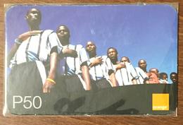 BOTSWANA FOOTBALL ORANGE RECHARGE P50 RECHARGE GSM PRÉPAYÉE PREPAID PAS TÉLÉCARTE PHONECARD CARD - Botswana