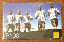 BOTSWANA FOOTBALL ENTRAINEMENT ORANGE RECHARGE P100 RECHARGE GSM PRÉPAYÉE PREPAID PAS TÉLÉCARTE PHONECARD CARD - Botswana