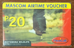 BOTSWANA FLEXICALL AIGLE RECHARGE P20 RECHARGE GSM PRÉPAYÉE PREPAID PAS TÉLÉCARTE PHONECARD CARD - Botsuana