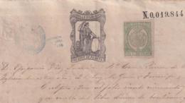 1874-PS-5 ESPAÑA SPAIN REVENUE SEALLED PAPER PAPEL SELLADO 1874 SELLO 11no + TIMBRE MOVIL DE CUBA. - Fiscales