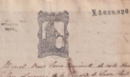 1874-PS-8 ESPAÑA SPAIN REVENUE SEALLED PAPER PAPEL SELLADO 1874 SELLO 11no + WAR TAX BLACK. - Fiscales
