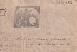 1886-PS-2 ESPAÑA SPAIN REVENUE SEALLED PAPER PAPEL SELLADO 1886 SELLO 12do - Fiscales