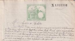 1888-PS-5 ESPAÑA SPAIN REVENUE SEALLED PAPER PAPEL SELLADO 1887 SELLO 11do - Fiscales