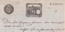1891-PS-2 ESPAÑA SPAIN REVENUE SEALLED PAPER PAPEL SELLADO 1891 SELLO 12do - Fiscales