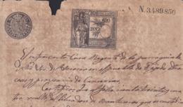 1892-PS-1 ESPAÑA SPAIN REVENUE SEALLED PAPER PAPEL SELLADO 1891 SELLO 12do - Fiscales