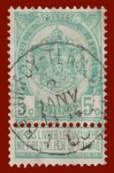 "COB N° 56 - Belle Oblitération "" BACONFOY (TENNEVILLE)"" - 1893-1900 Schmaler Bart"