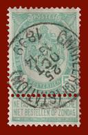 """COB N° 56 - Belle Oblitération """"CHARLEROI (STATION)"""" - 1893-1900 Schmaler Bart"""
