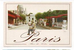 75 - PARIS - Place Du Tertre - Aquarelle De M. DUVOISIN   (E9) - Places, Squares
