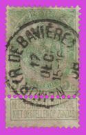 """COB N° 56 - Oblitération CONCOURS """"NAMUR (R. DE BAVIERE)"""" - 1893-1900 Schmaler Bart"""