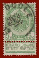 """COB N° 56 - Belle Oblitération """"UCCLE"""" - 1893-1900 Schmaler Bart"""