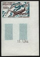 St. Pierre & Miquelon 1964 - Mi-Nr. 407 ** - MNH - Ungez. / Imp - Flugzeuge - St.Pierre & Miquelon
