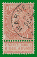 "COB N° 57 - Oblitéré ""WARNETON"" - 1893-1900 Schmaler Bart"