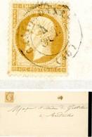 LOT ET GARONNE LST 1864 CASTILLONNES TYPE 15 SUR 10C EMPIRE DENTELE => BARDOULIS  VOIR LES SCANS - Postmark Collection (Covers)