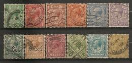 Timbres - Grande-Bretagne - George V - 1924 - Série De 12 Timbres - - Oblitérés