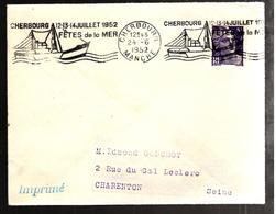 31933 - CHERBOURG FETES DE LA MER 52 - Postmark Collection (Covers)