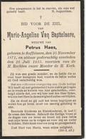 Zaffelaere, Saffelaere, 1933, Marie Van Bastelaere, Haes - Andachtsbilder
