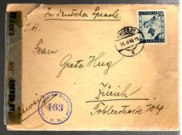 31941 - Censure  Pour La SUISSE - 1945-60 Lettres