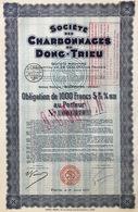 Indochine - Sté Des Charbonnages Du Dong-Trieu - Obligation De 1 000 F - 1931 - Asie