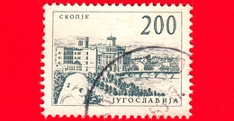 JUGOSLAVIA - Usato - 1961 - Turismo - Ingegneria Ed Architettura - Ponte Vardar A Skopje -  200 - 1945-1992 Sozialistische Föderative Republik Jugoslawien