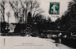 BRUNOY CHATEAU ET PONT DE SOULINS SOUS LA NEIGE  REF 65856 - Brunoy