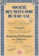 Indochine - Sté Des Mines D'or De Bao-Lac - Action De 25 Piastres - 1926 - Asie