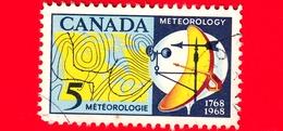 CANADA - Usato - 1968 - 200 Anni Della Prime Letture Meteorologiche - Meteorologia - 5 - 1952-.... Règne D'Elizabeth II