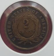 2 CENTESIMI STATI UNITI D'AMERICA USA COIN 1869 IN GOD WE TRUST - Émissions Pré-Fédérales