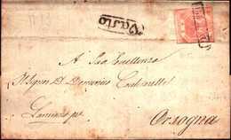 94282) ITALIA-REGNO DI NAPOLI-LETTERA CON 2 GRANA DA VASTO A ORSOGNA - Neapel