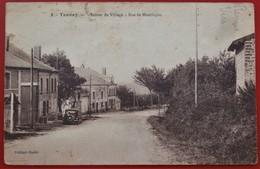 Cpa 08 TANNAY Anime Entree Du Village Rue De Montlucon Voiture Etat - Autres Communes