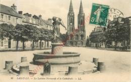 50.  SAINT LO .  La Laitière Normande Et La Cathédrale . - Saint Lo