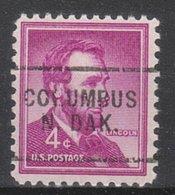 USA Precancel Vorausentwertung Preo, Locals North Dakota, Columbus 703 - United States