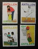 ANTILLAS HOLANDESAS 1999 - DEPORTES - BASKET - GOLF - ESGRIMA - TENIS - YVERT Nº 1193-1196** - Antillas Holandesas