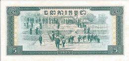 CAMBODGE   -  5 Riels   1975   -- UNC --    Cambodia - Kambodscha
