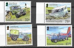 FALKLAND ISLANDS, 2019, MNH,  VEHICLES, LAND ROVERS, JEEPS, LIGHTHOUSES, 4v - Transportmiddelen