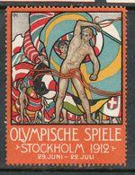 1912. Germany. Olimpic Games In Stockholm, Sweden. Advertising Label. - Sommer 1912: Stockholm
