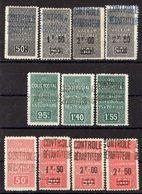 ALGERIE ( Colis Postaux ) Y&T N° 16/26 TIMBRES  NEUFS  SANS  GOMME , A VOIR . B 20 - Algérie (1924-1962)