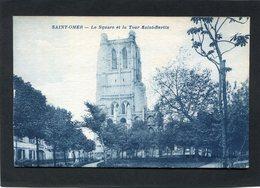 CPA - SAINT OMER - Le Square Et La Tour Saint Bertin - Saint Omer