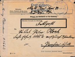 German Feldpost WW2: Reused Cover To Fahr Ersatz Abt. 2 P/m Köln 1 29.7.1942 - Inside Is A Letter From  A - WW2