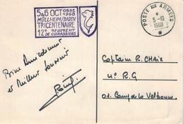 Poste Aux Armees - 1968 - Müllheim Baden 12. Regiment Kürassiere - Briefe U. Dokumente