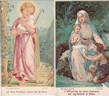 Image Religieuse : Image Pieuse : Santino : Lot De 2 Images : Le Bon Pasteur.......... - L'offrande La Plushumble....... - Santini