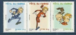 """FR YT T3877a Triptyque """" Fête Du Timbre : Franquin """" 2006 Neuf** - Frankreich"""