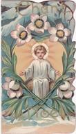 Image Religieuse : Image Pieuse : Santino : à Volet : Chant De Noël : Gaufré - Festonné : Voir 3scans - Andachtsbilder
