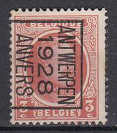 BELGIË - PREO - 1928 - Nr 165 B - ANTWERPEN 1928 ANVERS - (*) - Sobreimpresos 1922-31 (Houyoux)