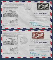 Nouvelle Calédonie - 2 Enveloppes Première Liaison Aérienne Nouméa Sydney - Nouvelle-Calédonie