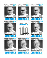 Djibouti. 2020 St. Pope John Paul II 100.  (0118c3)  OFFICIAL ISSUE - Papes